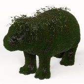 Hippo Grass Topiary