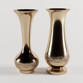 Vases gold set