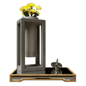 Декоративный набор Uttermost с хризантемами