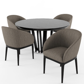 Tosconova Eva chair Diamond round table