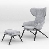 Armchair & Foot Rest Cassina