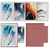 Real painting abstract art -photo frame set 08
