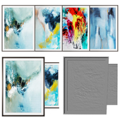 Real painting modeling abstract art -photo frame set 09