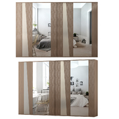 Wardrobe with sliding doors KELLY By Gruppo Tomasella