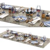 Lorenzi Milano Bamboo Dining Tableware set