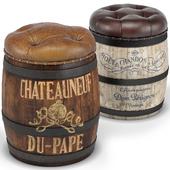 Moet, Chateauneuf du Pape Wine Barrel Stools