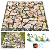Decorative grass path