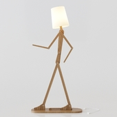 Floor lamp human