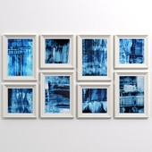 Blue abstract collection