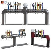 Industrial Pipe Draft Beer Towers 2