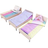 A set of cots.