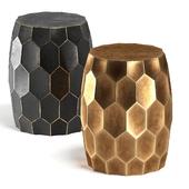 Brass black side table
