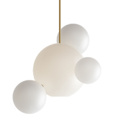 Giopato & Coombes Bolle Bls Lamp White Glass 4