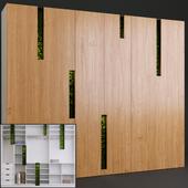 Стена-шкаф с стабилизированным мхом