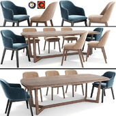 Coco Arm Dining Chair Set 07
