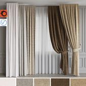 A set of curtains 6. Beige gamma