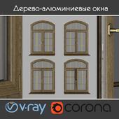 Дерево - алюминиевые окна, вид 04 часть 02 набор 07