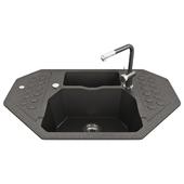 ALVEUS Sink built-in kitchen Sensual 60 G05M corner twilight (1108259)