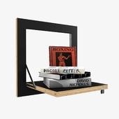 AMBIVALENZ FLAPPS  Folding plywood wall shelf 3d model