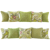 Жёлто-зелёные подушки (Pillows yellow green YOU)
