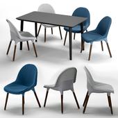 IKEA BALTSAR chair LISABO dining table