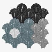 Sartoria LE CONCHIGLIE Indoor ceramic 3D Wall Cladding 3d model