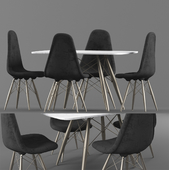 Dining table and chair modern