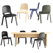 Hem-Touchwood chair & Bookmatch table
