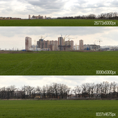 Panorama with construction skyscraper. Krasnodar
