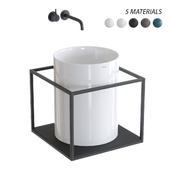 GALASSIA Core Countertop Ceramic Washbasin Set 2