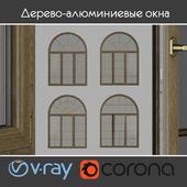 Дерево - алюминиевые окна, вид 04 часть 02 набор 09