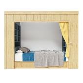Built-in baby bed