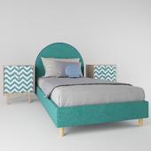Детская кровать Alana бирюзовая