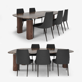 Poltrona Frau table and Pranzo Shantal chair