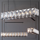 Люстра RH Harlow Crystal Square Chandelier 18