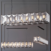 Люстра RH Harlow Crystal Square Chandelier 16