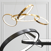 Decorative 4 ring Chandelier