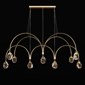 John Richard Faceted Cut Crystal Nine Light Chandelier