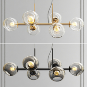 Staggered Glass Chandelier - 6 Light
