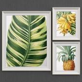 Bananas and pineapple