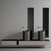 GALASSIA Core Countertop Ceramic Washbasin Set 1