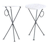 Side Table Clack Circles