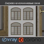 Дерево - алюминиевые окна, вид 04 часть 02 набор 10 (На перезаливку)