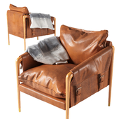 Havana Leather Chair by Anthropologie