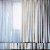 Curtains with tulle set 11 | Almira and Tani by Backhausen