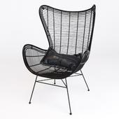 HK-Living Natural rattan egg chair