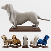 Wiener Dog Decorative Sculpture