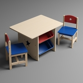 Children's table with drawers and two chairs KidKraft Star Table & Chair Set