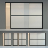 Sliding partition door 6