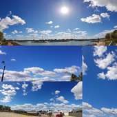 Cloudy Blue sky version 1